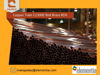 High Quality Copper Red Brass Tube / Pipe C23000 85%