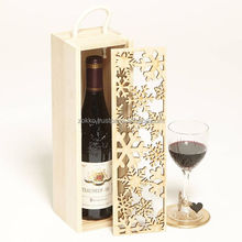 Wooden Wine Boxes, Gift Package, Christmas design, Customer production available