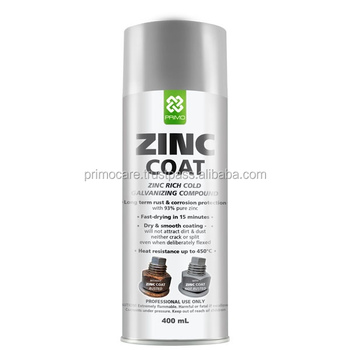 Zinc Cold Galvanize Spray Paint Grey Primo Zinc Coat 400 Ml - Buy Zinc Rich  Paint,Zinc Based Paints,Zinc Coating Spray Product on Alibaba com
