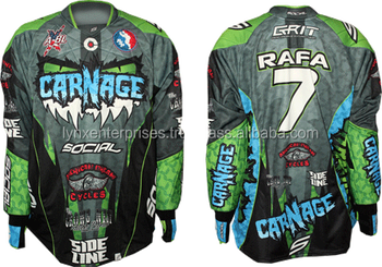 4aa653f1e Fully Custom Sublimation Paintball Jersey / sublimated fishing jerseys /  Full Sublimation Polyester Jersey