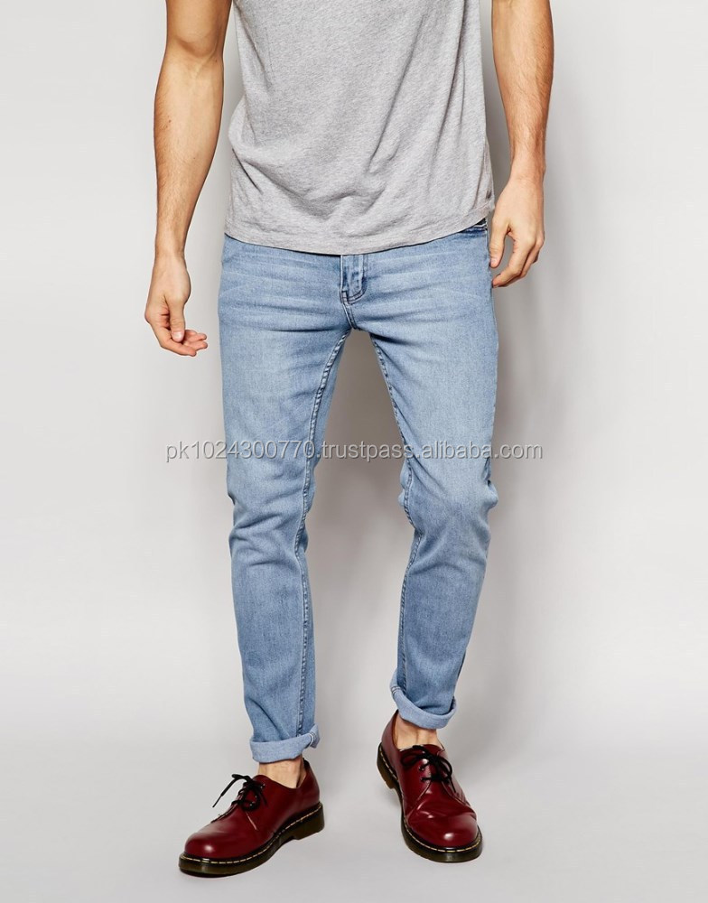 regular slim straight leg denim Jean pant wholesale denim jeans