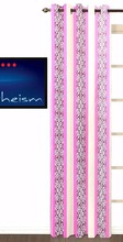 Fabutex Printed Pink Polyster 7' Curtain Pack Of 1