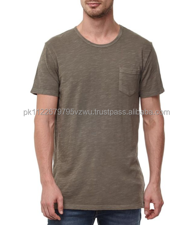 High Quality Customized T-shirts For Men with patch pocket on chest