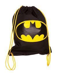 Black And Yellow Batman Drawstring Bag