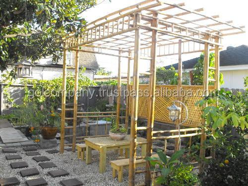 P rgola de bamb glorietas arcos puente bar gazebo - Pergola bambu ...