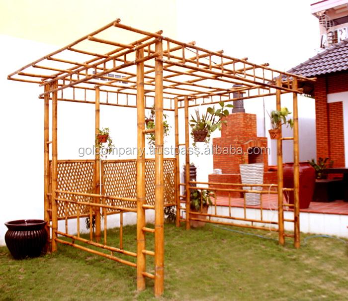 en gros bambou pergola tonnelles arches pont bar gazebo. Black Bedroom Furniture Sets. Home Design Ideas