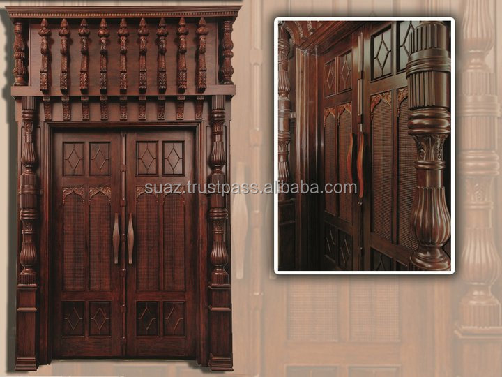 Wooden Carving Single door , Carved Wood handmade door , Custom size color wooden premium single size door