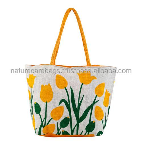 Promotional Jute Ping Bag Whole From India Kolkata Burlap Bags With Handles Tote Bulk