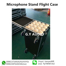 wireless mic rack case/microphone stand flight case/microphone case