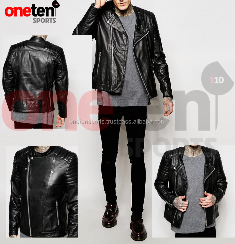 Real Leather Biker Jacket / leather jacket