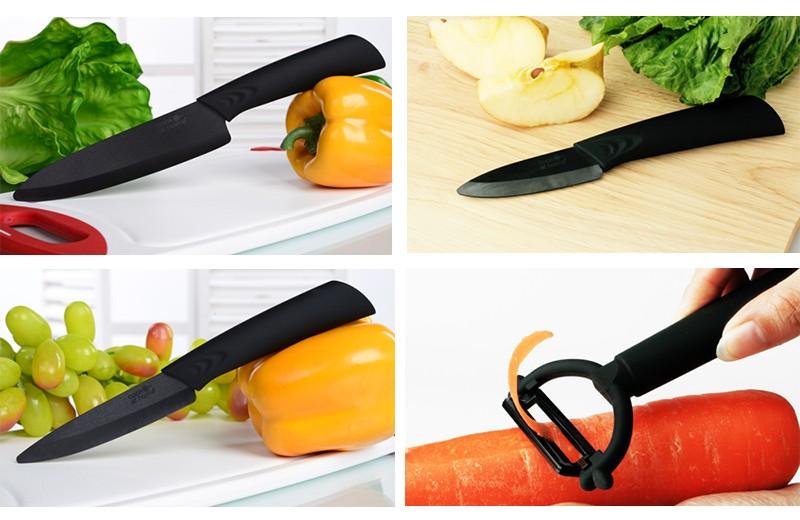 Sharpest Kitchen Chef Knives Ceramic Black Blade Knife Set - Buy Kitchen  Knife Ceramic Black Blade,Ceramic Knife,Ceramic Knives Ceramic Knife Set ...