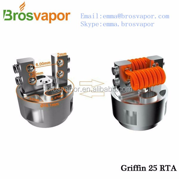 GeekVape Griffin 25 25mm Velocity-style RTA 6ml capacity!Broavapor announced, the ultimate RTA