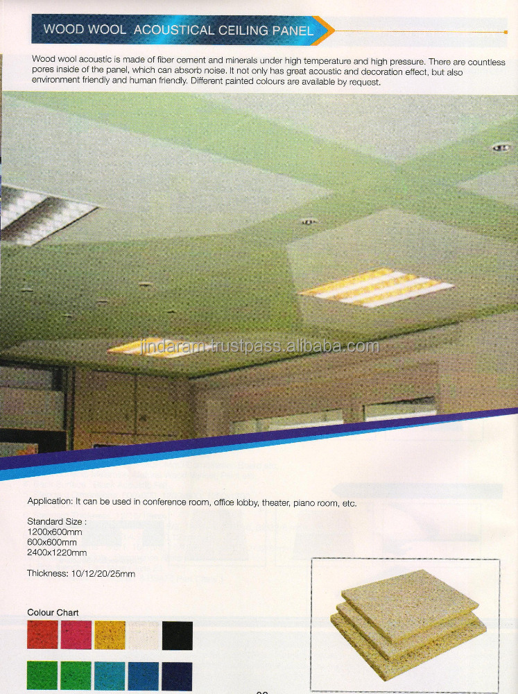 Wood Wool Accoustic Ceiling Panel