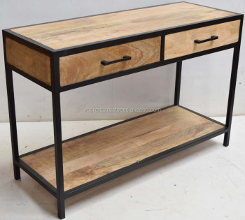 Delightful Industrial Console Drawer Table