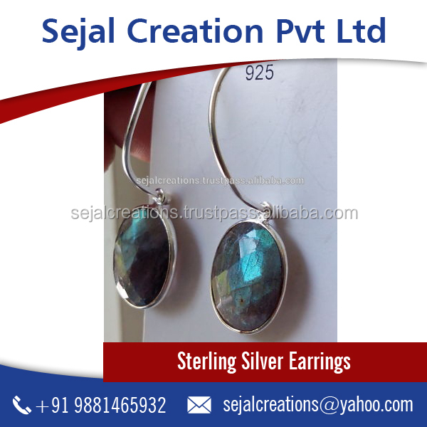 Beautifully Crafted 925 Sterling Silver Earrings at Wholesale Rate