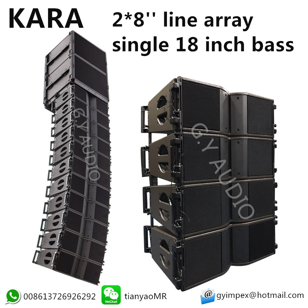 L-acoustics line array .dual 8 inch line array 2-way speaker KARA