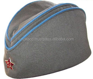 soviet military air force pilot side cap/military/navy forge cap with piping