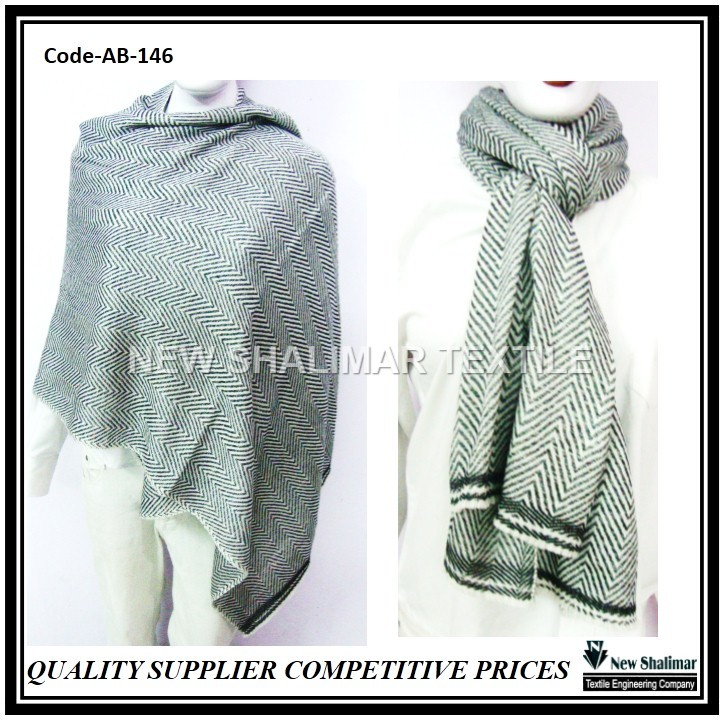 Wholesale Blanket Nepal Wool Men women Herringbone Scarf Shawl