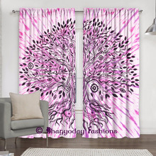 Tree of Life Door Window Treatment Curtain Drapes Valances Room Separator Indian Curtain