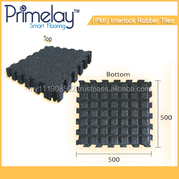 Pre-Moulded Interlock Rubber Tiles for home