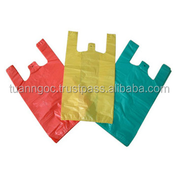 Singlet handle custom HDPE plastic bag