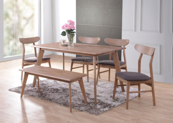 Solid Rubberwood Dining Set Chair Table Malaysia Made