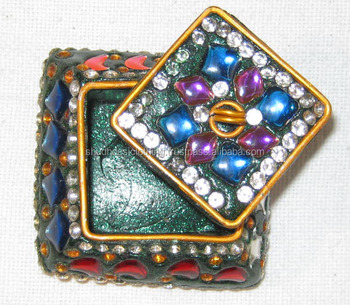 Small Sindoor Boxes / Small Kumkum Boxes / Gift Lac Boxes, View Glittering  Lac Kumkum Box, Shudhdesiclothing Product Details from JAIPUR ONLINE SHOP