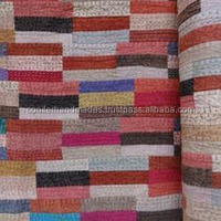 custom made patchwork fabrics made from recycled cotton fabrics for quilters, home crafts, fabric supply stores