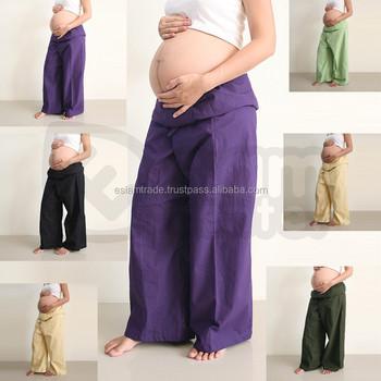 170c621929da1 Best Long Wide legged Cheap Pregnancy Clothes Hippie Bohemian Wholesale Maternity  Pants