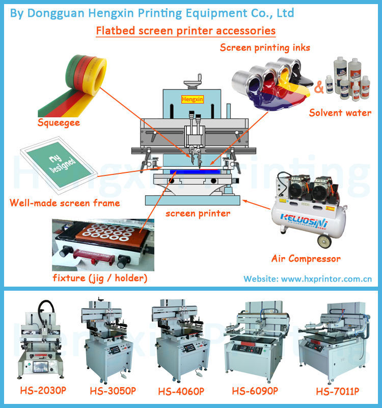 Paper /PCB flat vacuum screen printing machine