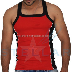 Cotton gym singlet,100% cotton men tank top,custom gym singlets