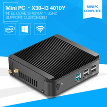 Mini Computer I3 4010Y 1.3GHz With High Performance CPU Cheap Mini Thin Client Aluminum Alloy case Fanless 2G Ram 64G SSD