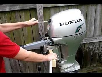 Used honda 8 hp 4 stroke outboard motor engine buy boat for Used honda boat motors