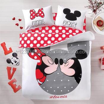 Lizenzierte Disney Mickey Minnie Liebhaber Bettwäsche Set 100 ...