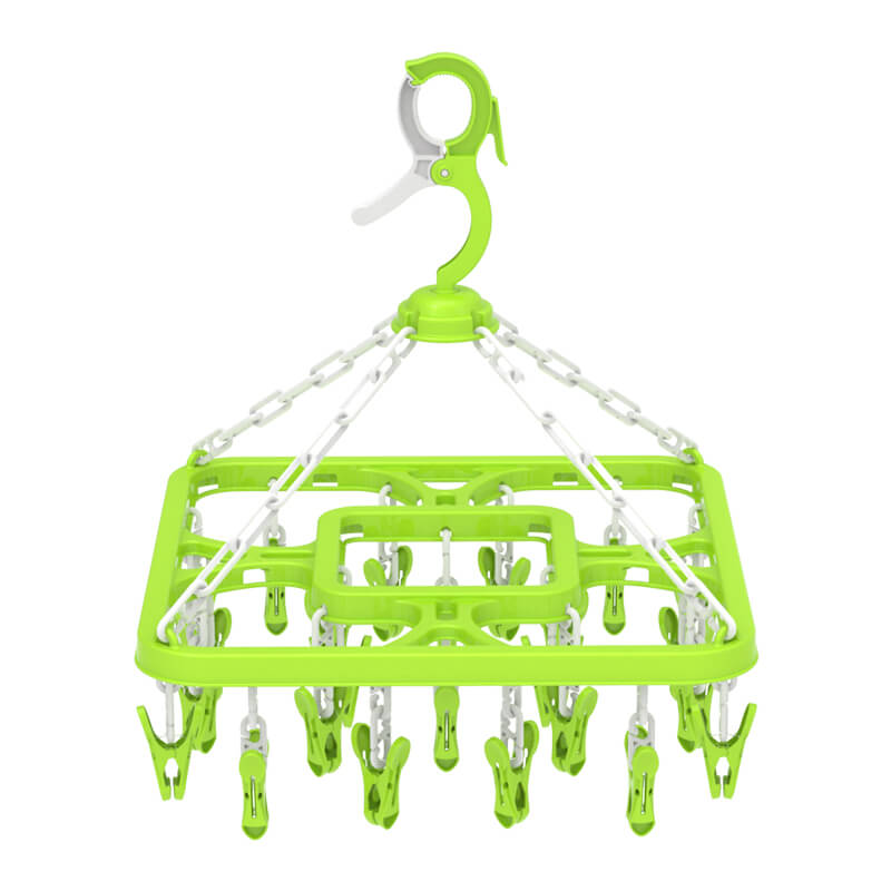 2018 hot sales Plastic hanger with 24 clips for baby
