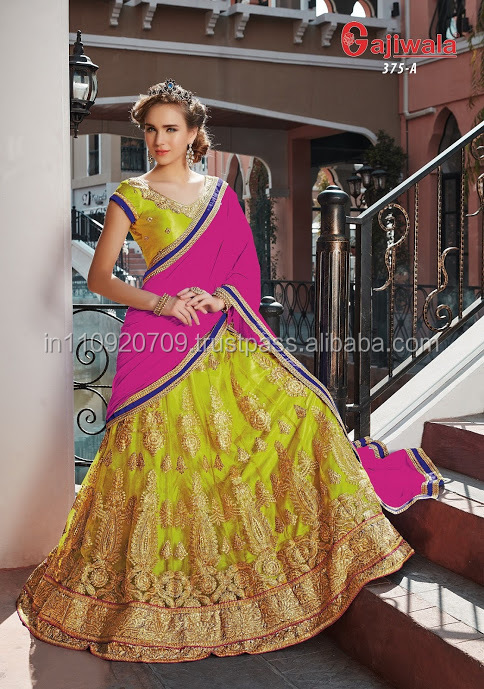 BUY ONLINE BEAUTIFULLY WORKED LEHANGA