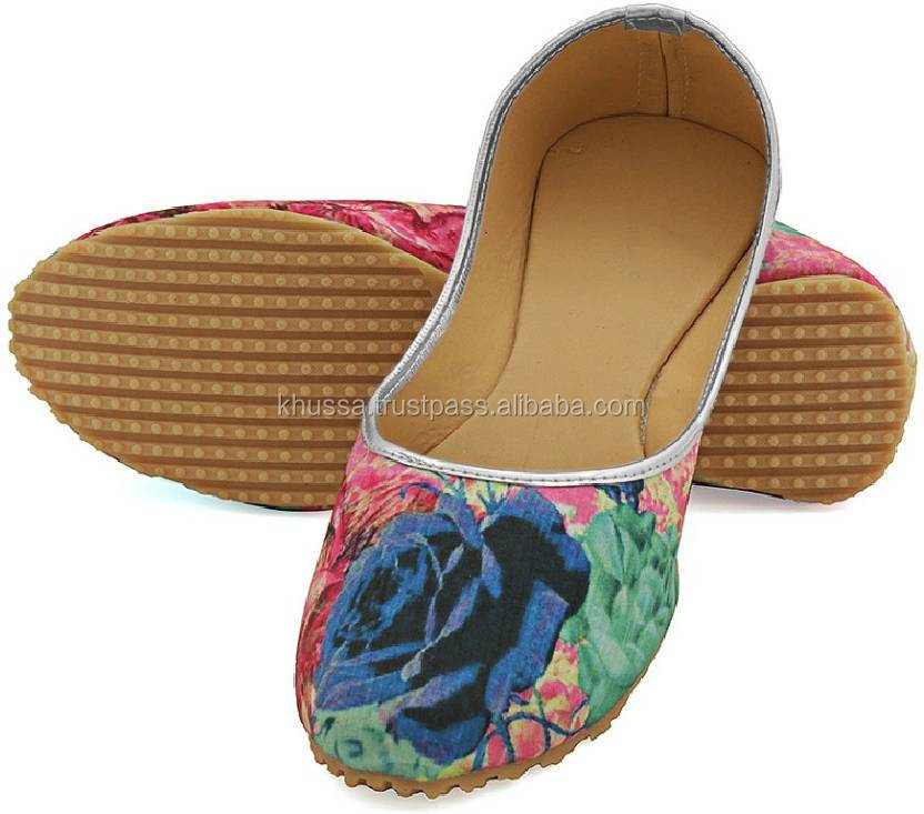 New Colorful Indian Floral Ethnic Mojari Juti Dance shoes women