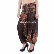 Brown Harem Yoga Pants Trouser Baggy Gypsy Ginie Alibaba Trouser Aladdin elastic pant Rayon gypsy yoga pant Trousers wholesale