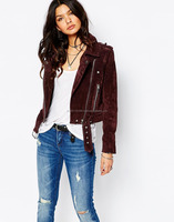Cropped Suede Leather Jacket