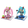 LOZ 2 pcs lot Sakura Miku Hatsune Miku Plastic Diamond Building Blocks Toys Kawaii Minifigures for