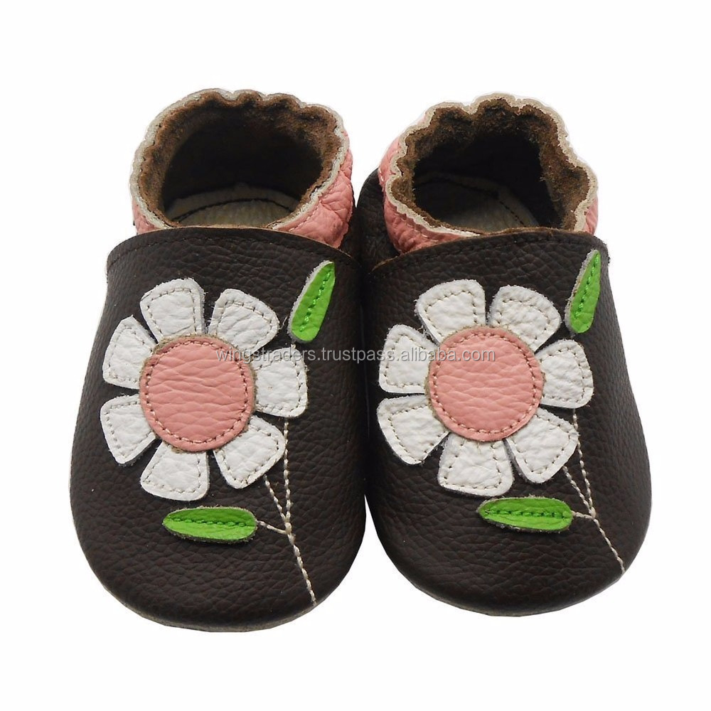 Baby Flowers Soft Sole Leather Shoes