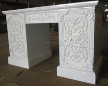 Antique White Painted Carved Dressing Table