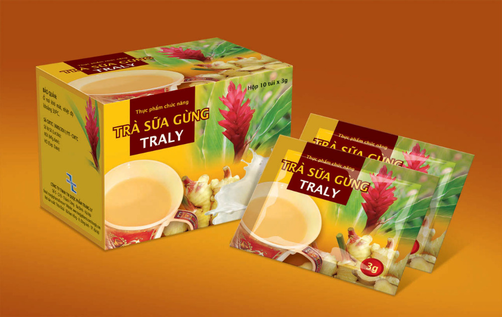 TRA SUA GUNG TRALY Tea (TRALY GINGER MILK TEA)-Food supplements fr VN