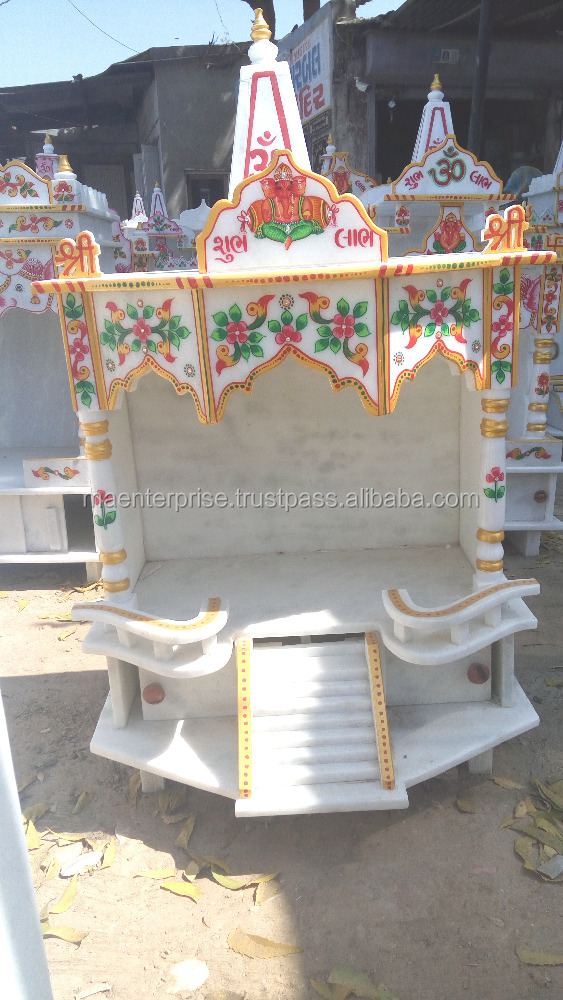 Marble temple designs for home pooja mandir