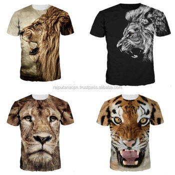 307ce1084 Printed Technics And Unisex Gender Sublimation Animal T Shirts - Buy ...