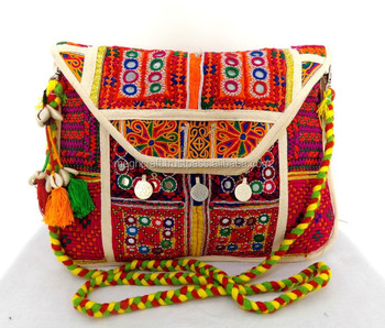 Tribal Hand Embroidery Purse India Traditional Kutchi Embroidery