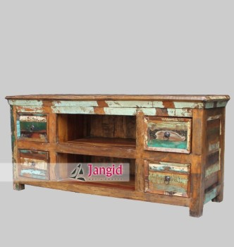 Indian Recycled Wood Tv Stand Hotel Furniture Buy Cheap