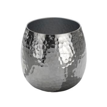 Flower Vasealuminium Hammered Vasedecorative Flower Vase Buy