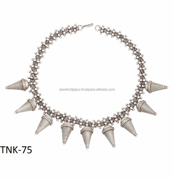 New year latest design antique vintage jewelry oxidised silver con new year latest design antique vintage jewelry oxidised silver con beads necklace aloadofball Image collections