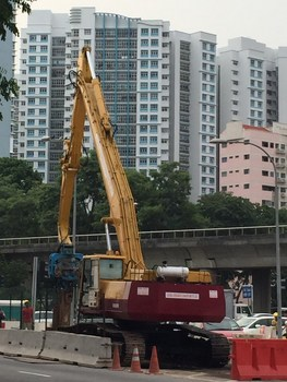 Used Excavator Mounted Vibro Hammer For Sale In Singapore - Buy Komatsu Pc  410 With Vibro Hammer Product on Alibaba com
